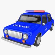 macchina della polizia dei cartoni animati 3d model