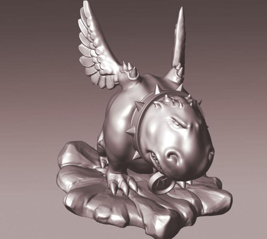 Animale domestico mostro royalty-free 3d model - Preview no. 2