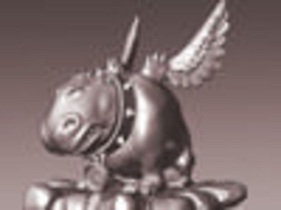 Animale domestico mostro royalty-free 3d model - Preview no. 8