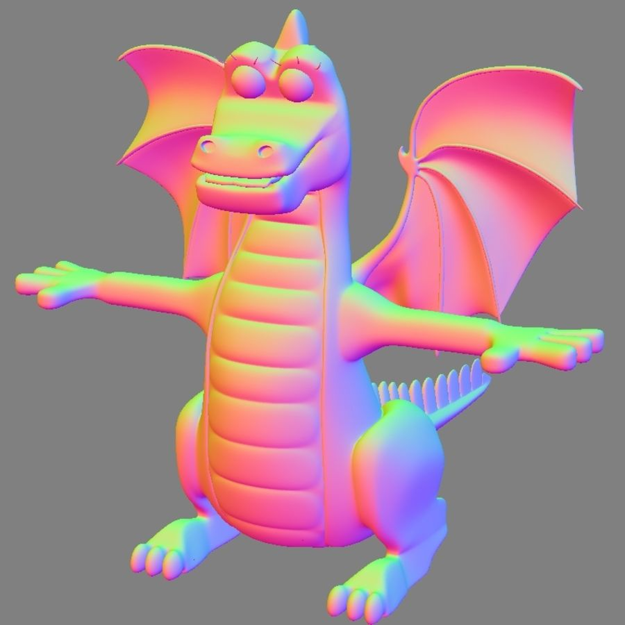 Dolce Drago royalty-free 3d model - Preview no. 7
