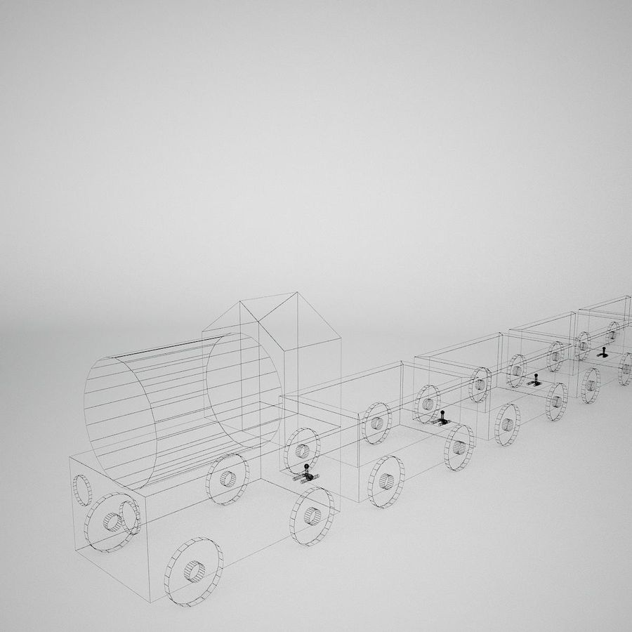 Tren de juguete royalty-free modelo 3d - Preview no. 14