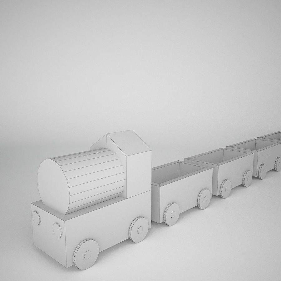 玩具火车 royalty-free 3d model - Preview no. 9