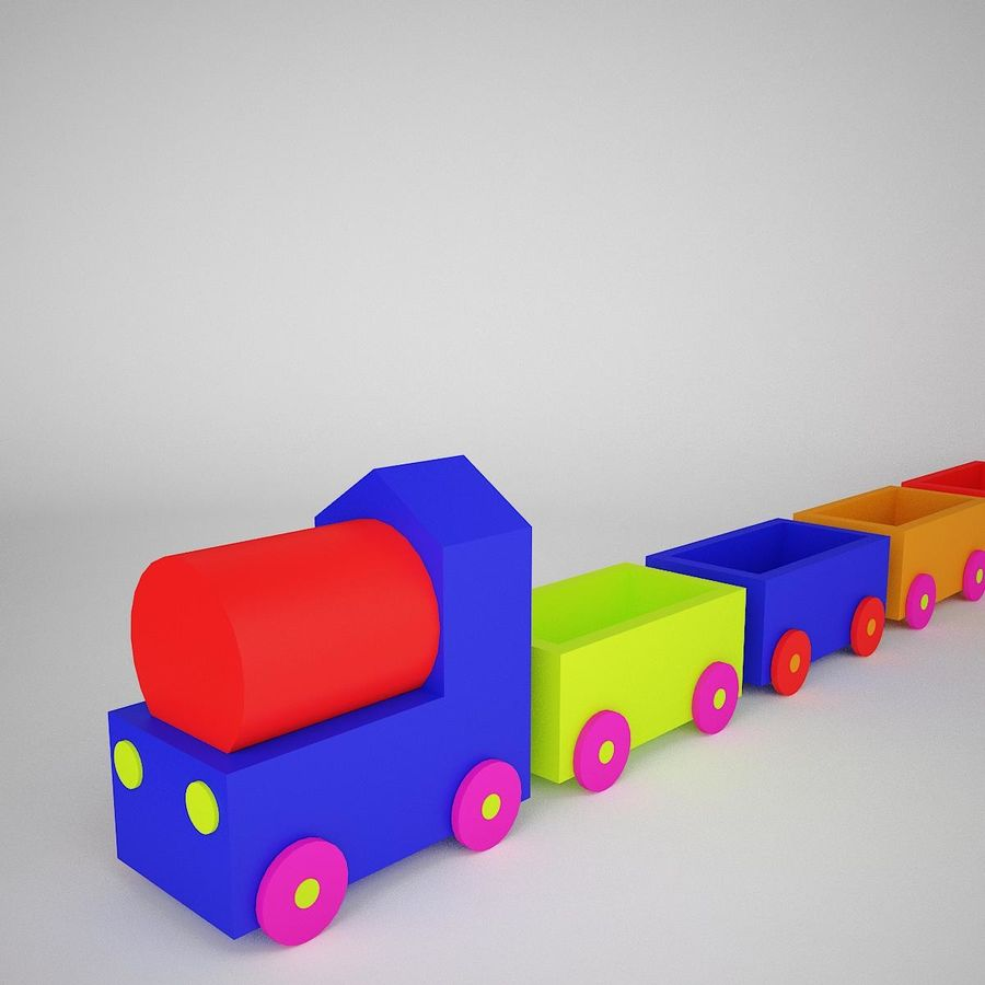 玩具火车 royalty-free 3d model - Preview no. 4