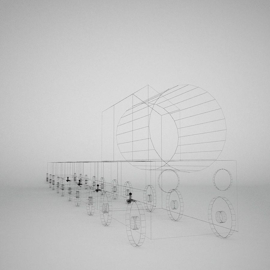Игрушечный поезд royalty-free 3d model - Preview no. 12