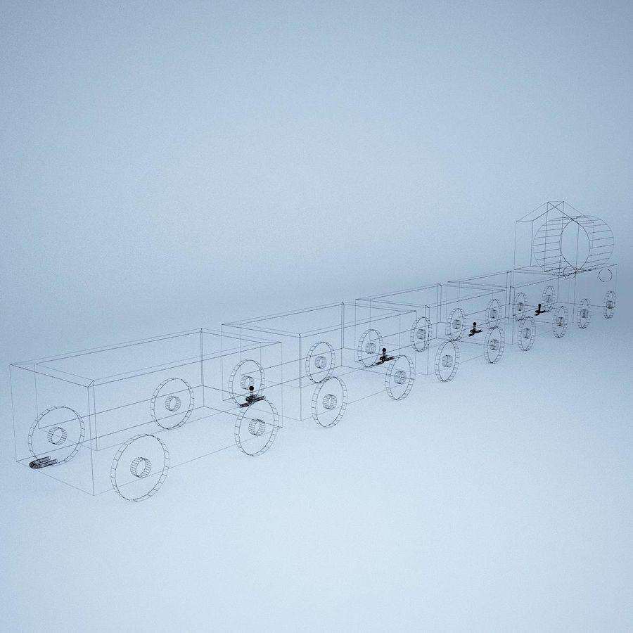 Tren de juguete royalty-free modelo 3d - Preview no. 15