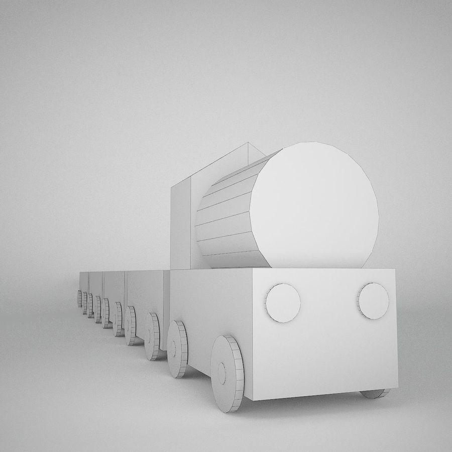 Игрушечный поезд royalty-free 3d model - Preview no. 7