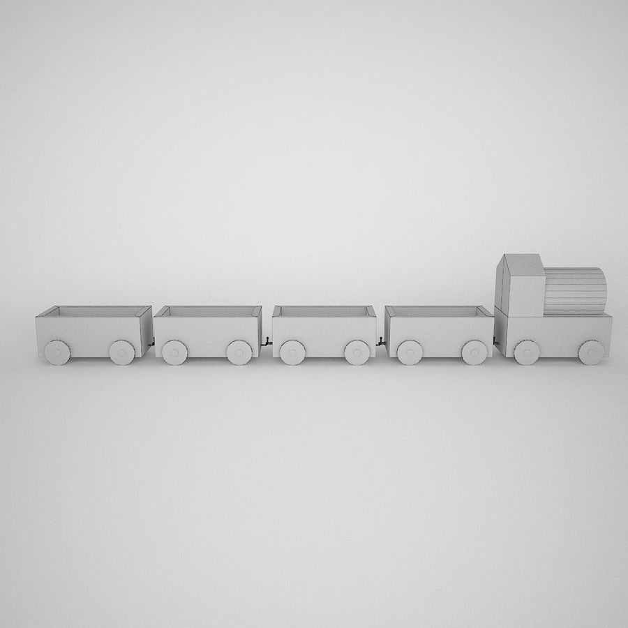 玩具火车 royalty-free 3d model - Preview no. 6