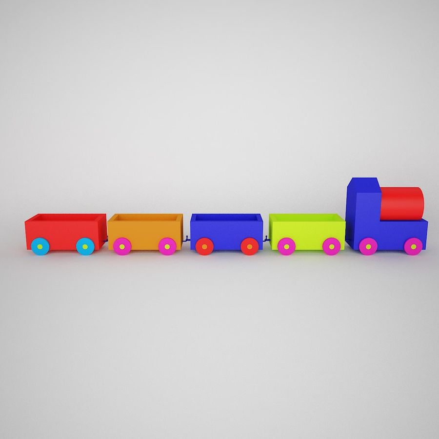 玩具火车 royalty-free 3d model - Preview no. 1