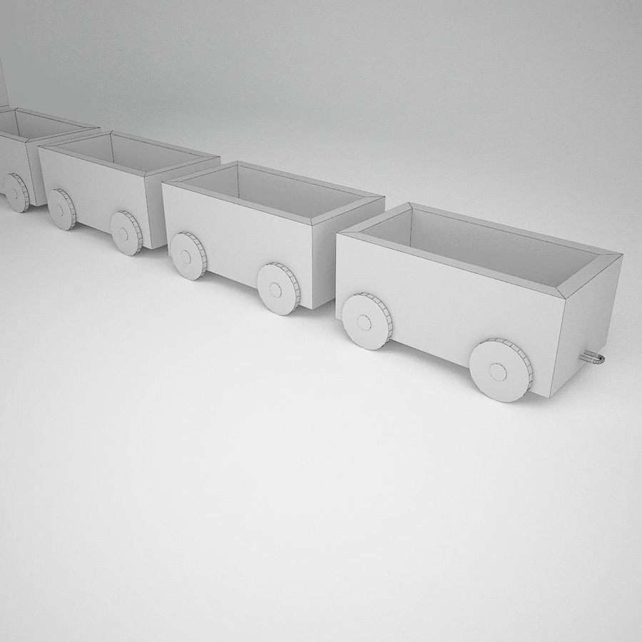 Tren de juguete royalty-free modelo 3d - Preview no. 8