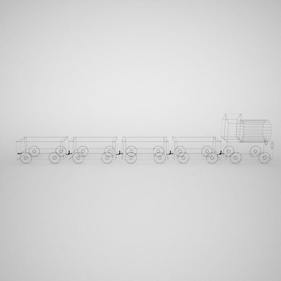 Tren de juguete royalty-free modelo 3d - Preview no. 11
