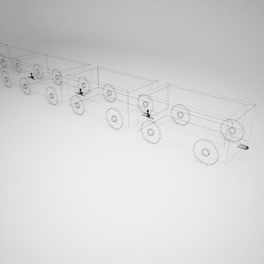 玩具火车 royalty-free 3d model - Preview no. 13