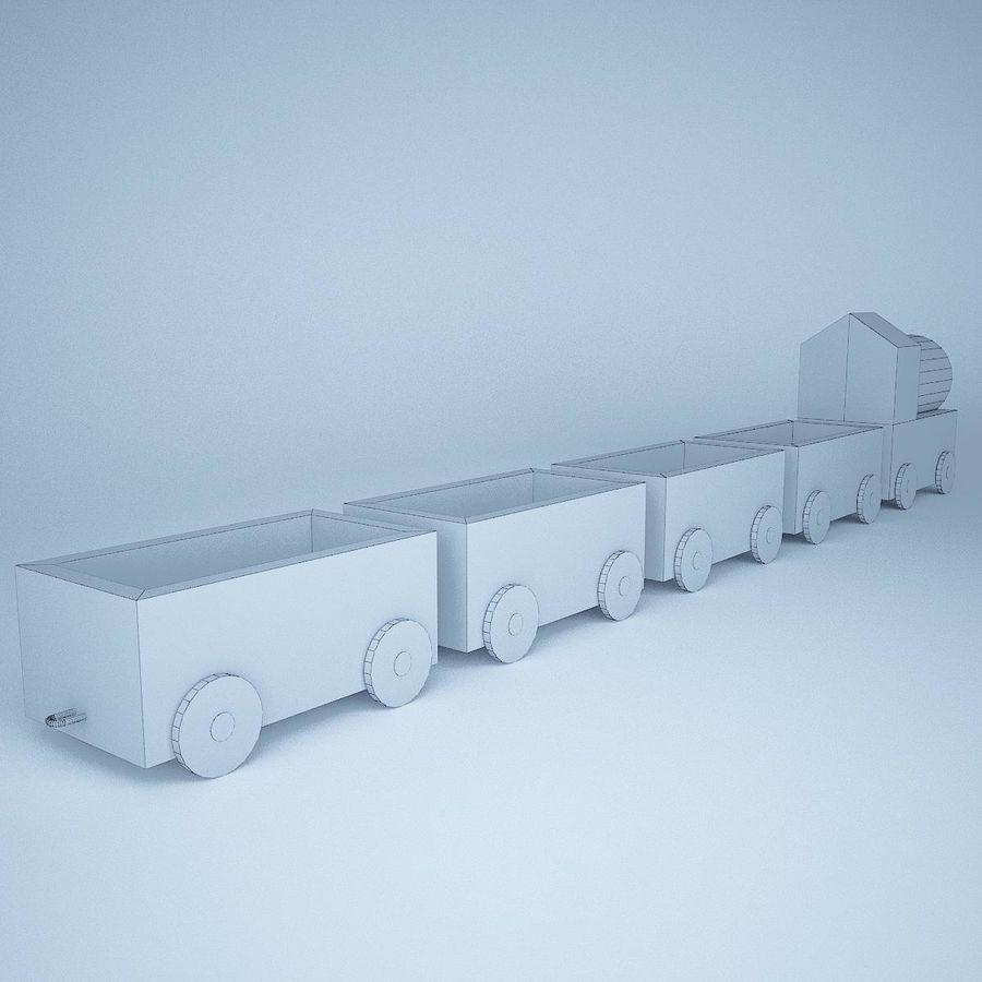 Игрушечный поезд royalty-free 3d model - Preview no. 10