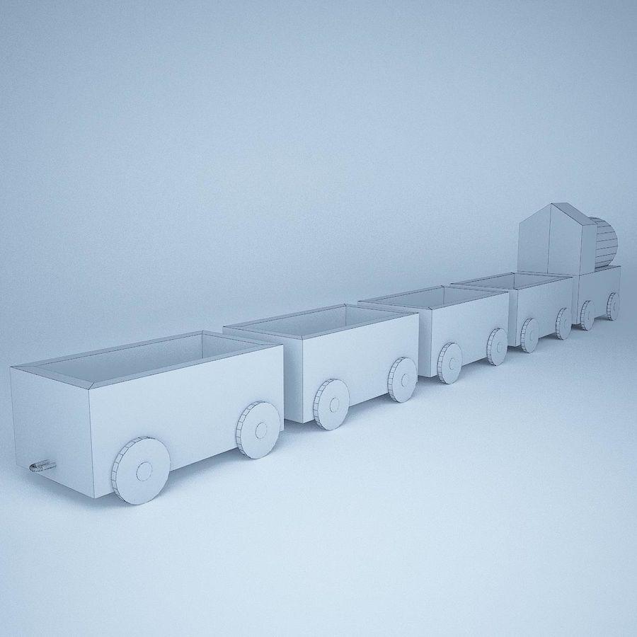Tren de juguete royalty-free modelo 3d - Preview no. 10