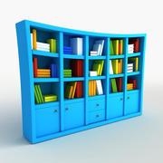 Cartoon boekenplank 3d model