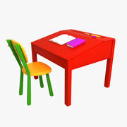 Chaise de bureau de dessin animé 3d model