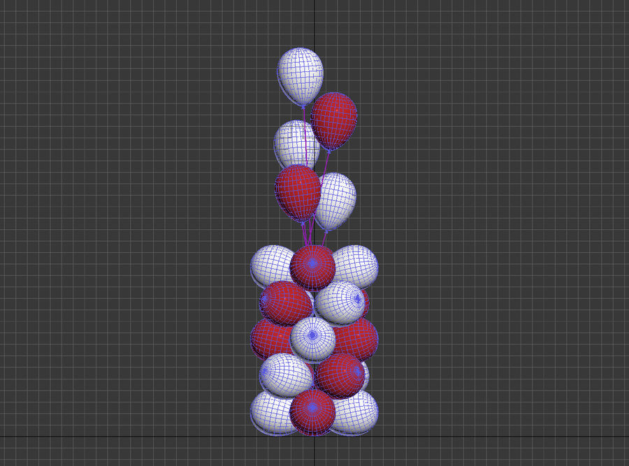 Balloons royalty-free 3d model - Preview no. 3