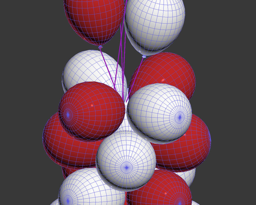 Balloons royalty-free 3d model - Preview no. 5