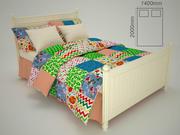 Kids bed 3d model