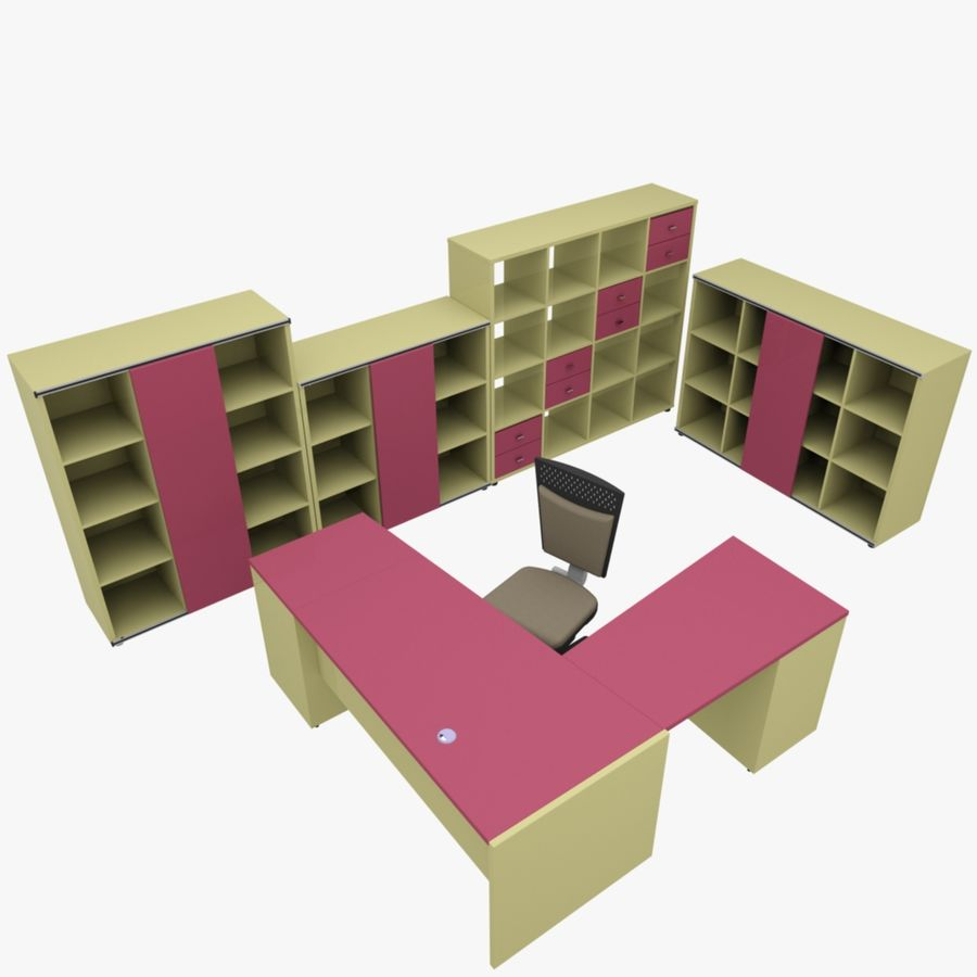 Office 109 royalty-free 3d model - Preview no. 1