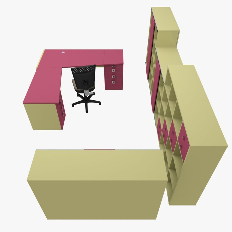 Office 109 royalty-free 3d model - Preview no. 9