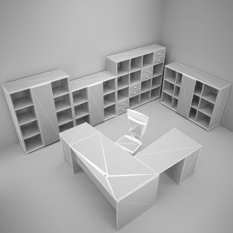 Office 109 royalty-free 3d model - Preview no. 3