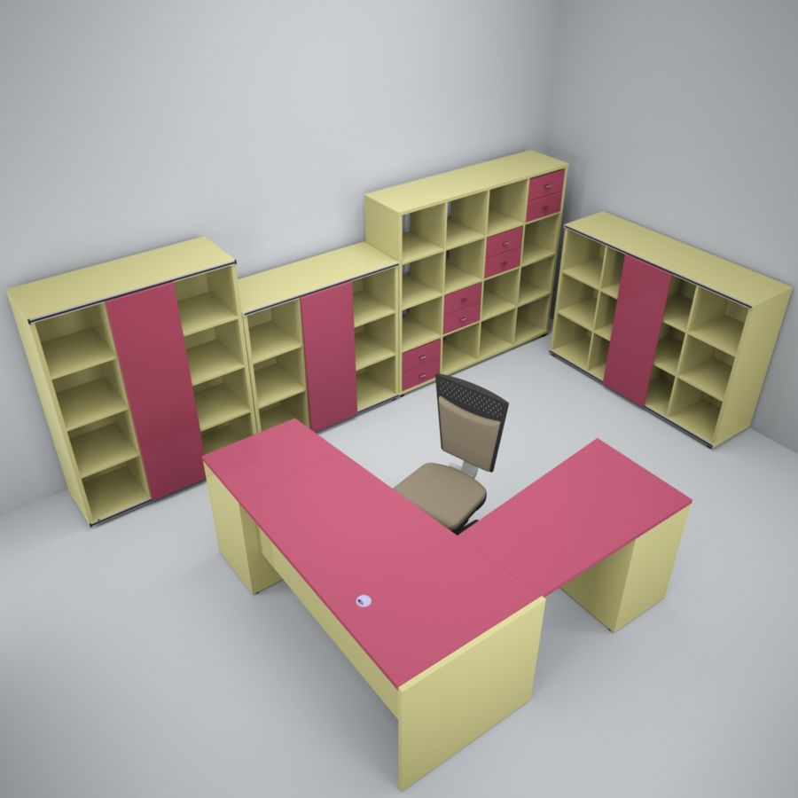 Office 109 royalty-free 3d model - Preview no. 2