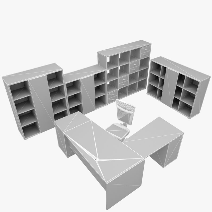 Office 109 royalty-free 3d model - Preview no. 4