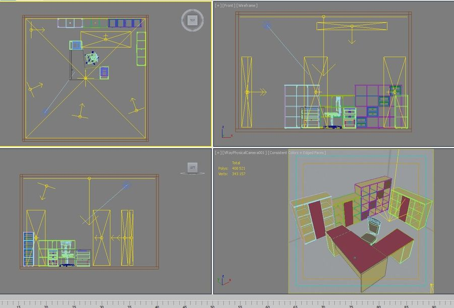 Office 109 royalty-free 3d model - Preview no. 14