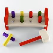Giocattolo di legno 3d model