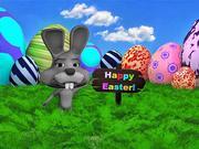 イースターのウサギのシーン 3d model