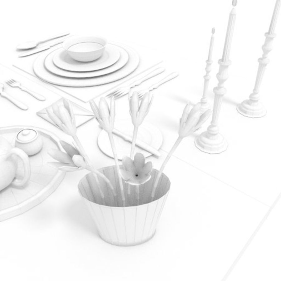 Cutlery Dinner Tea royalty-free 3d model - Preview no. 9