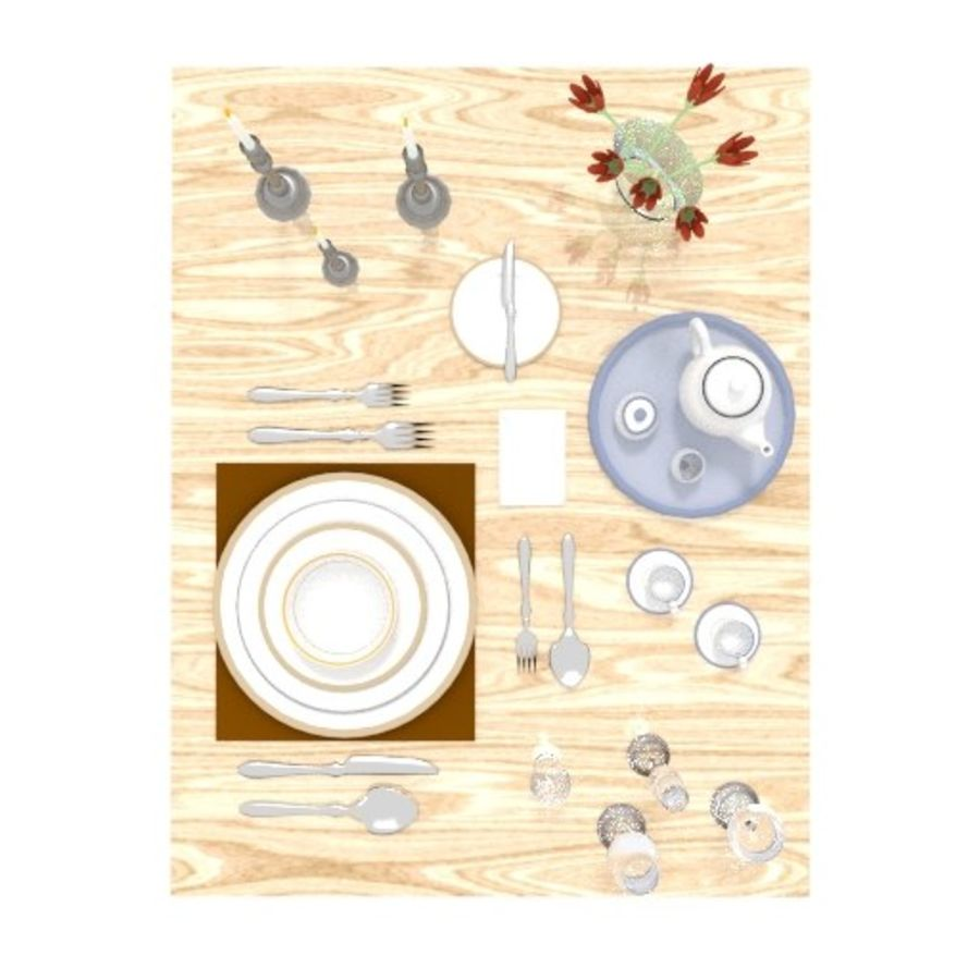 Cutlery Dinner Tea royalty-free 3d model - Preview no. 4