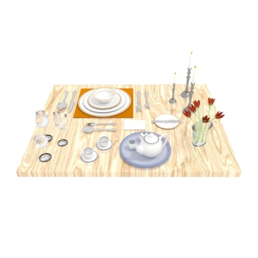 Cutlery Dinner Tea royalty-free 3d model - Preview no. 6