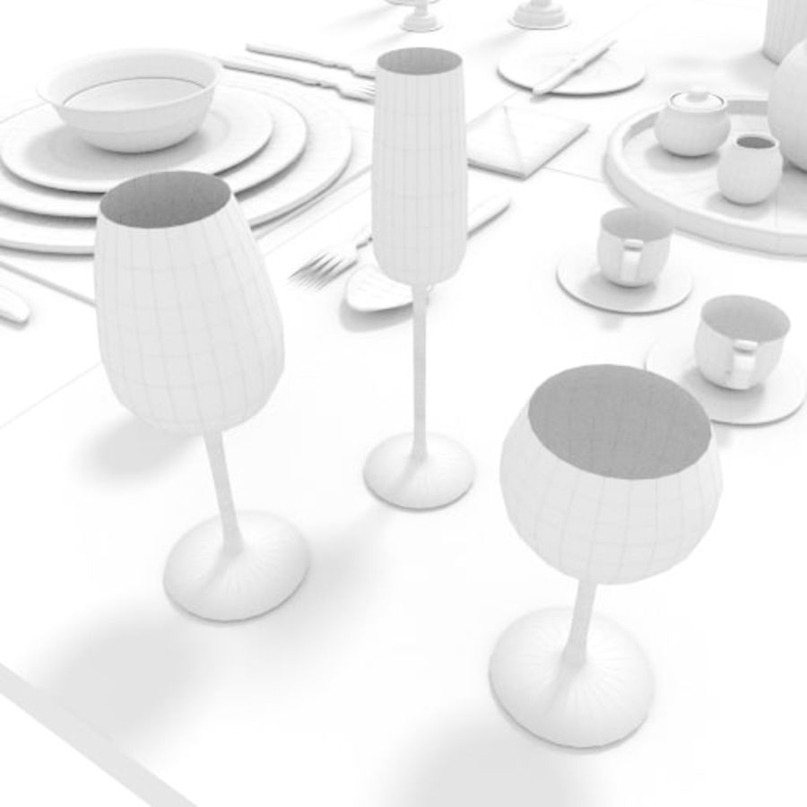 Cutlery Dinner Tea royalty-free 3d model - Preview no. 12