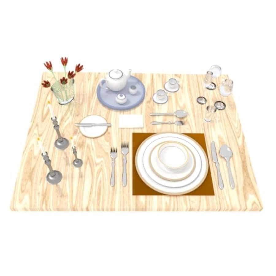 Cutlery Dinner Tea royalty-free 3d model - Preview no. 2