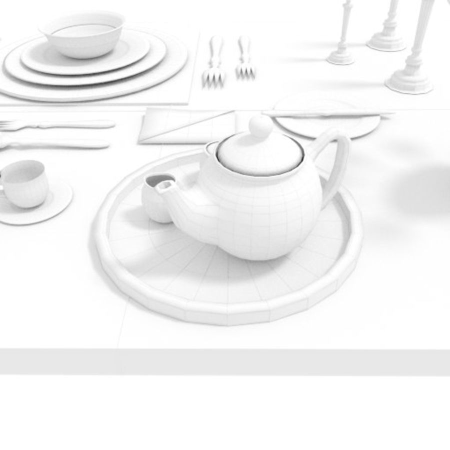 Cutlery Dinner Tea royalty-free 3d model - Preview no. 8