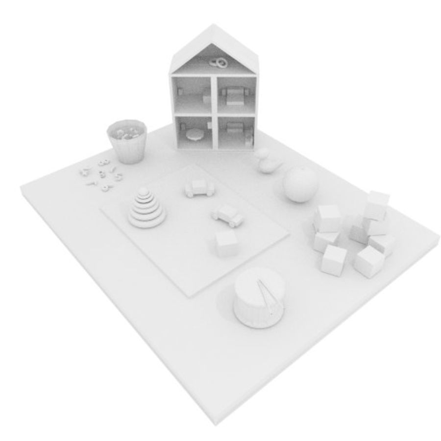 Игрушки детские вещи royalty-free 3d model - Preview no. 6