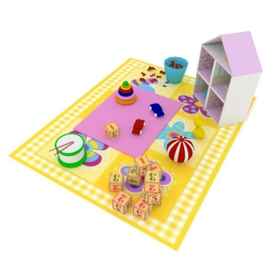 Игрушки детские вещи royalty-free 3d model - Preview no. 3