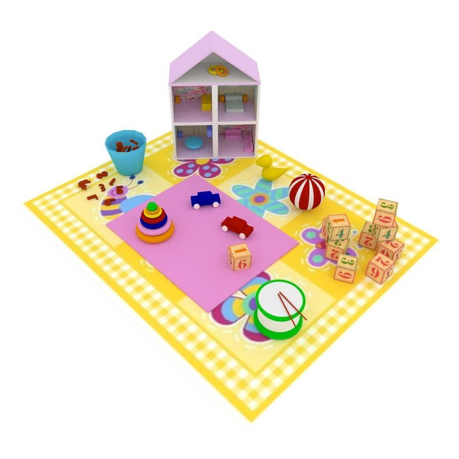 Игрушки детские вещи royalty-free 3d model - Preview no. 1