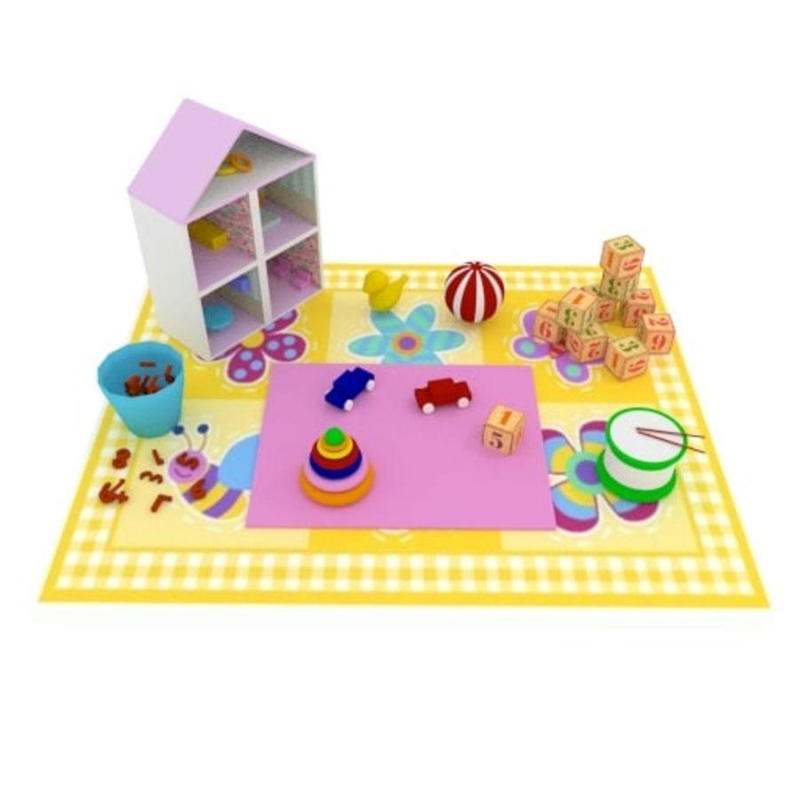 Игрушки детские вещи royalty-free 3d model - Preview no. 2