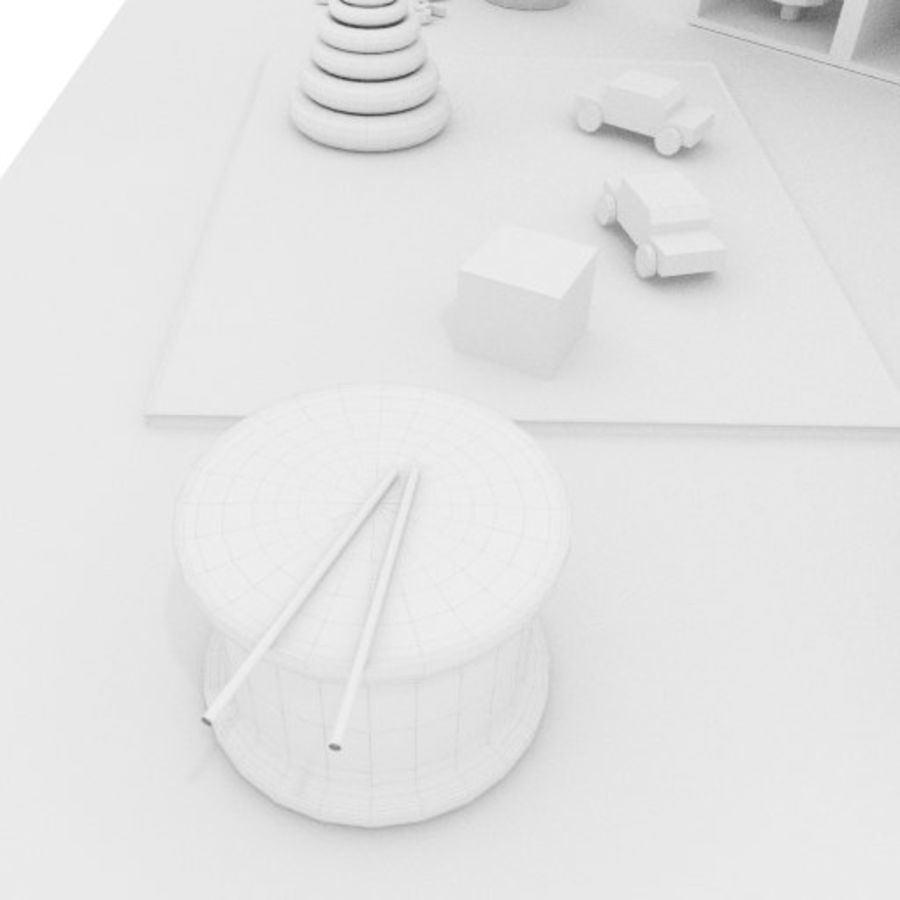 Игрушки детские вещи royalty-free 3d model - Preview no. 7
