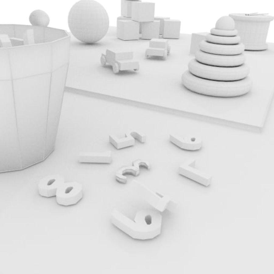 Игрушки детские вещи royalty-free 3d model - Preview no. 10