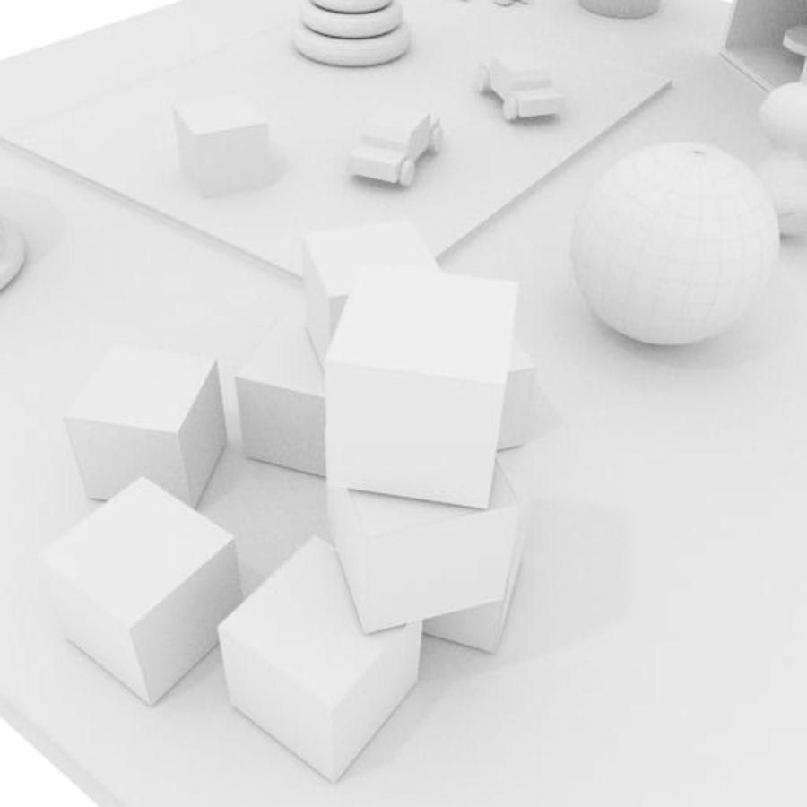 Игрушки детские вещи royalty-free 3d model - Preview no. 8