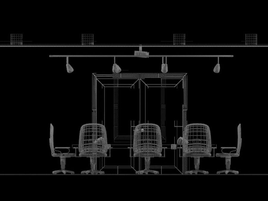 办公空间 royalty-free 3d model - Preview no. 10