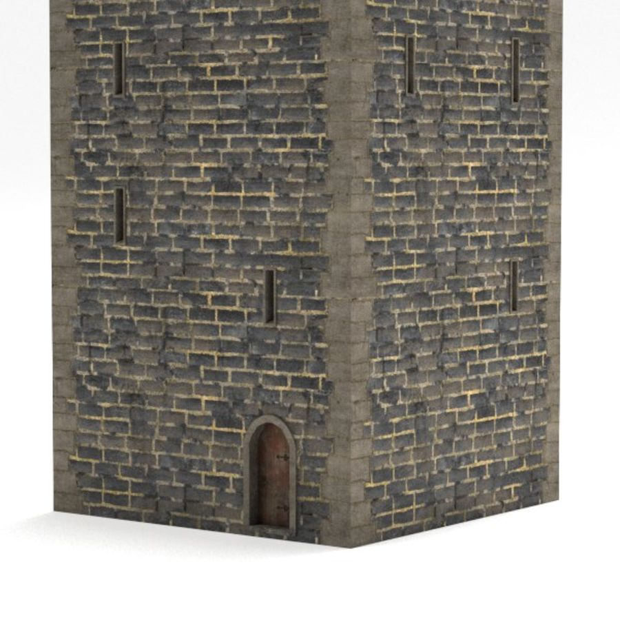 Schlossturm royalty-free 3d model - Preview no. 3