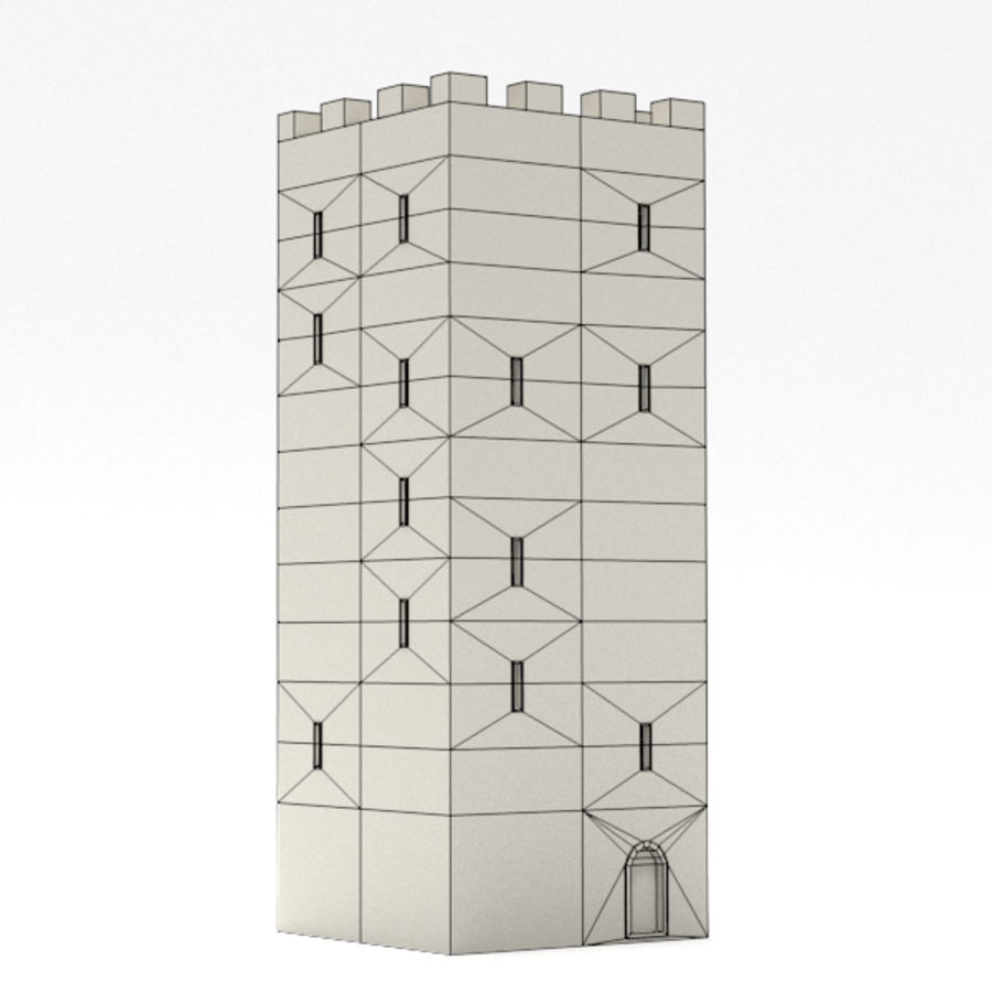 Schlossturm royalty-free 3d model - Preview no. 5