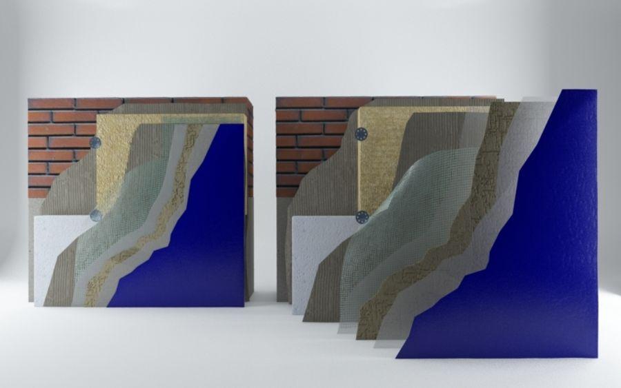 Brick wall royalty-free 3d model - Preview no. 2
