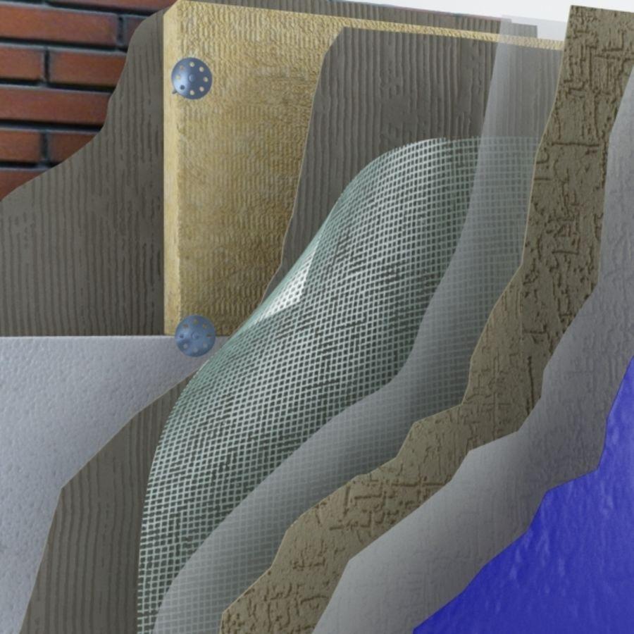 Brick wall royalty-free 3d model - Preview no. 5