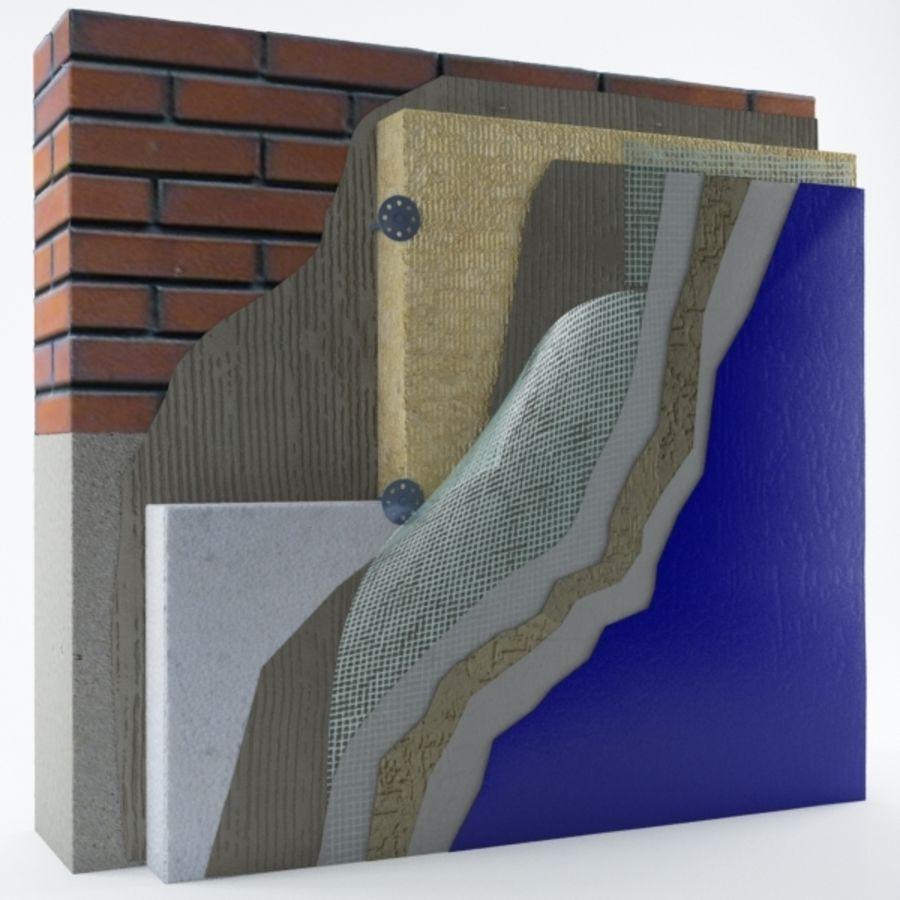 Brick wall royalty-free 3d model - Preview no. 6