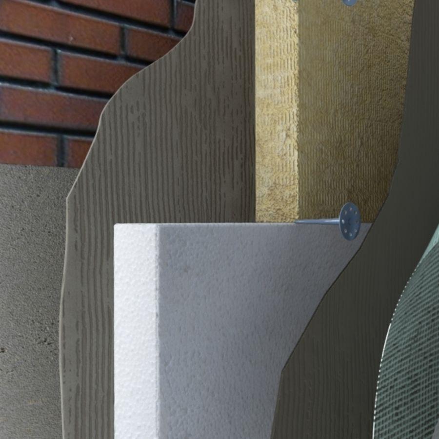 Brick wall royalty-free 3d model - Preview no. 3